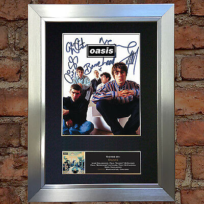 OASIS No2 Signed Autograph Mounted Photo Reproduction A4 Print no491