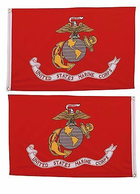 3x5 U.S. Marines EGA Marine Corps 2 Faced 2ply Double Sided Wind Resistant Flag