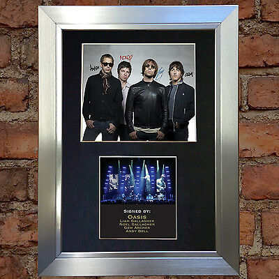 OASIS No1 Signed Autograph Mounted Photo Reproduction A4 Print no191