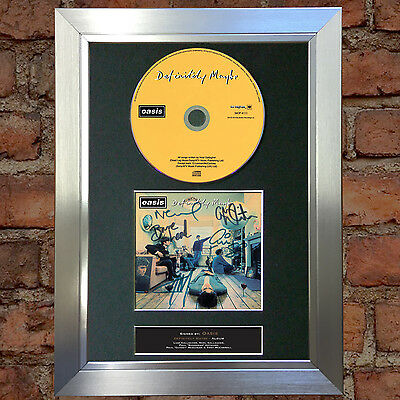 OASIS Definitely Maybe Album Signed Autograph CD & Cover Mounted Print A4 no20