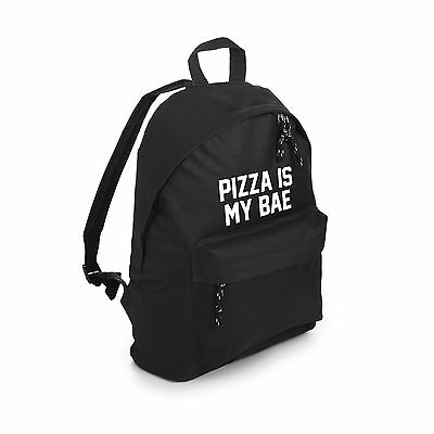 Pizza Is My Bae Backpack School Bag Fashion Tumblr Hipster Grunge Food Fun Goth