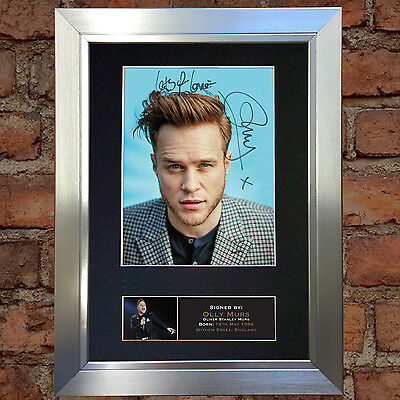 OLLY MURS No2 Signed Autograph Mounted Photo Repro A4 Print no601