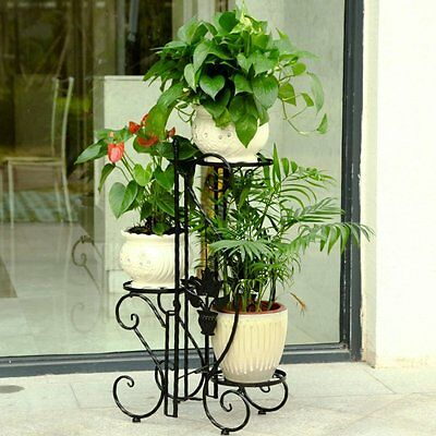 3 Tiered Folding Flower Stand Holder Outdoor Indoor Plant