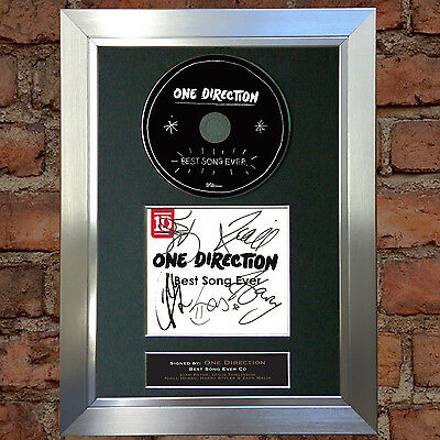 ONE DIRECTION Best Song Ever Signed Autograph CD & Cover Mounted Print A4 54