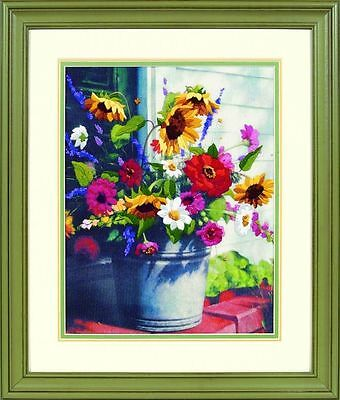 Dimensions - Crewel Embroidery Kit - Bucket of Flowers - D01534