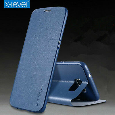 Slim Genuine Leather Stand flip protect Wallet Cover UP Case For Samsung S10 S9