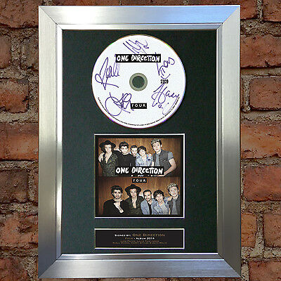 ONE DIRECTION Four Album 1D Signed Autograph CD & Cover Mounted Print A4 63