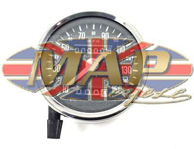 Triumph BSA Universal Motorcycle Black Face 150 MPH Speedometer 60-2394