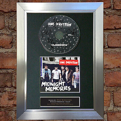 ONE DIRECTION Midnight Memories Signed Autograph CD & Cover Mounted Print A4 53