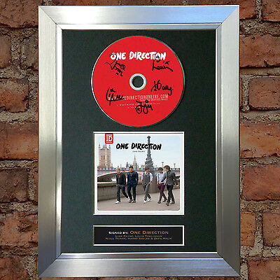 ONE DIRECTION One Thing Signed Autograph CD & Cover Mounted Print A4 24