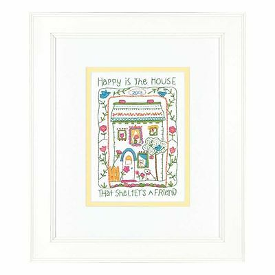 Dimensions - Crewel Embroidery Kit - House Sampler - D71-06242
