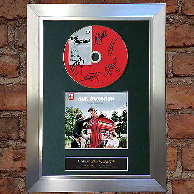 ONE DIRECTION Take Me Home Signed Autograph CD & Cover Mounted Print A4 no25