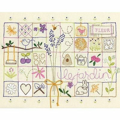 Dimensions - Crewel Embroidery Kit - Le Jardin Sampler - D71-01545