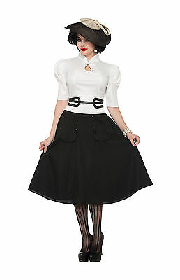LADIES CURVES 50S Pin Up Costume Rock n Roll Vintage Retro Plus Size ...