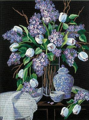 Dimensions - Crewel Embroidery Kit - Lilacs & Lace - D01529