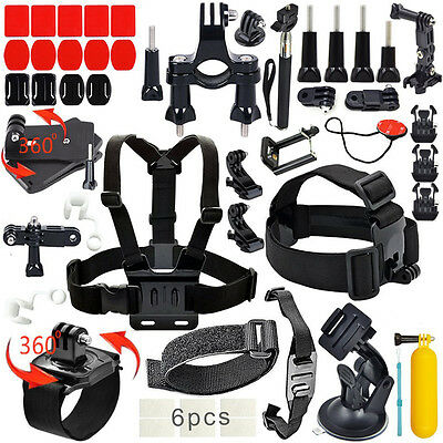 Outdoor Sports Kit Ultimate Combo Camera Kit Accessories for GoPro HERO 7 6 Sony