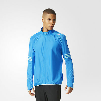 New With Tags Adidas Men's Running Response Wind Jacket Regular Fit Large $60.00