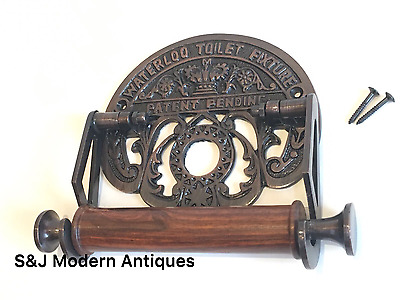 Toilet Roll Holder Vintage Victorian Unusual Novelty Waterloo Copper Bronze Old