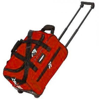 """Jeep 18"""" Lightweight Wheeled Travel Holdall Cabin Approved Trolley Suitcase Red"""