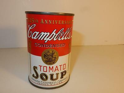 Vintage Metal Campbell's Tomato Soup 125th Anniversary Piggy BANK
