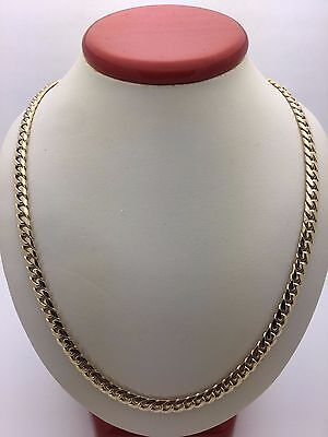 """Men's 14K Solid Yellow Gold 18"""" Miami Cuban Link Chain Necklace 29.9 grams 5 mm"""