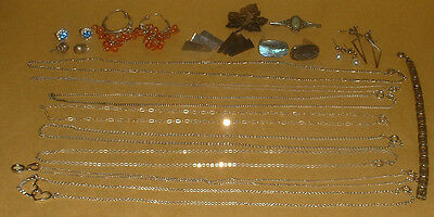 19 Pieces Of Hallmarked 925 Silver Good Quality Jewellery
