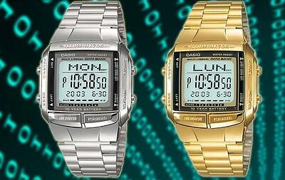 Casio mens watch retro digital databank DB360/DB360G UK seller