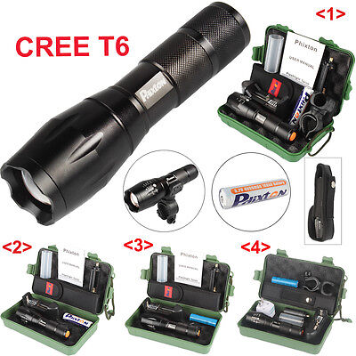 LED Lampe X800 5000lm CREE T6 Tactical Flashlight Military Torche Battery Mount