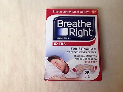 Breathe Right Nasal Strips Extra Tan 26 Count