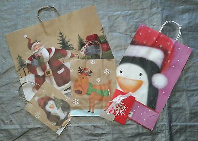 Wholesale Resale Lot of 82 Holiday Christmas Gift Bags Brand New Assorted