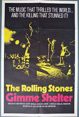 The Rolling Stones - GIMME SHELTER - VERY RARE 1st release movie poster 1971