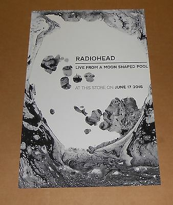 Radiohead Live from a Moon Shaped Pool Poster 2016 Original Promo 11x17