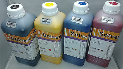Eco solvent Ink DX4 DX5 DX6 Roland Mimaki Mutoh printers 4 Colors liter USA