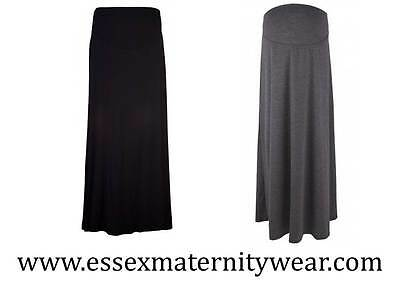 BNWT Maternity Maxi Skirt Black or Grey Size 8 - 18