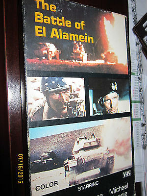 BATTLE OF EL ALAMEIN VHS Military Movie Stafford Hilton x