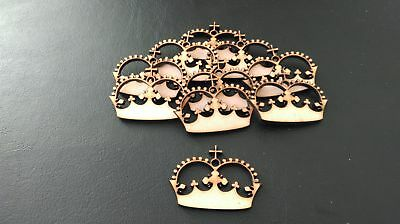 Wooden Mdf Crown shapes Princess decoupage craft various sizes E10