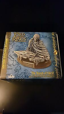 United Cutlery Lord of the Rings SHARDS OF NARSIL LotR Not Sideshow Rare Sealed