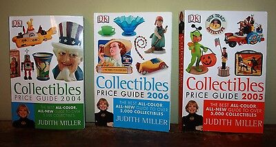 Miller's Collectibles Price Guide Lot of 3 Library 2004 2005 2006 Vtg Collector
