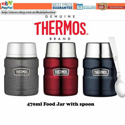 Thermos STAINLESS STEEL Vacuum Insulated Food Jar Container 470ml / 710ml