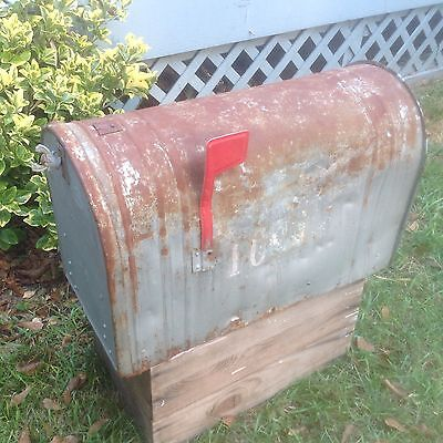 HUGE Rustic Old Farmhouse Mailbox- Galvanized Steel - Sturdy, Shabby, Useful! 👌
