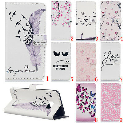 Magnetic Flip stand Card Leather wallet + TPU Case Cover For Samsung Galaxy