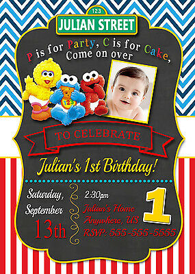 Baby Elmo Sesame Street Birthday Invitations Print Your Own Party Supplies