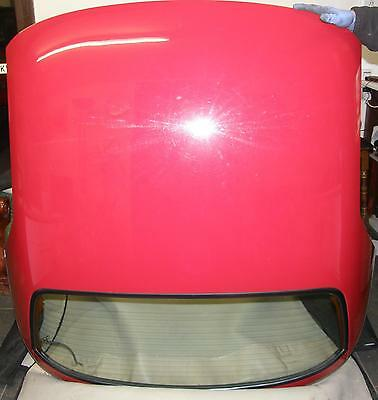 mgf - mg tf heritage hard top heated glass screen - only  1 red left