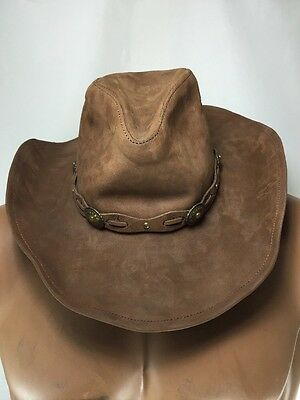 24d90f85ac9 Stetson Roxbury Rodeo Dr Collection Shapeable Leather Western Hat Size Small