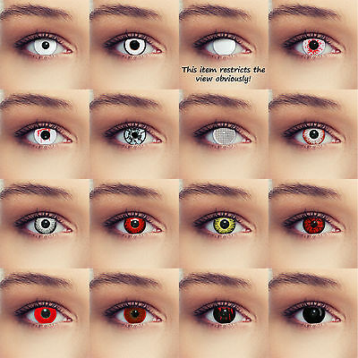 Halloween Scary Zombie Contact Lenses Lentilles Crazy Monster Costume