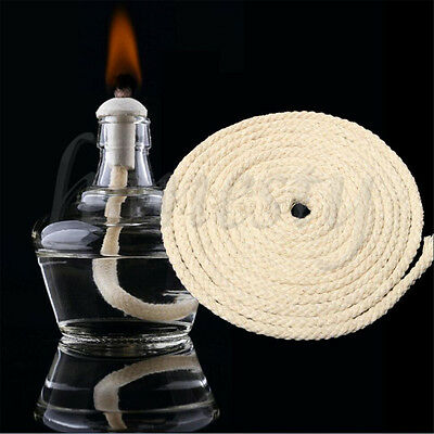 1M Long Cotton Wick Burner For Oil Kerosene Alcohol Lamp Torch Wine Bottle New