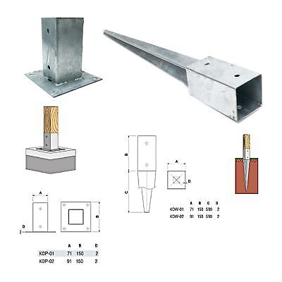 NEW METPOST metal support post / fence support spike connection zinc plated