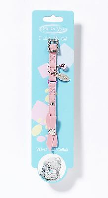 Me To You Velvet, Pink, Luxury Cat Collar RRP £5.00