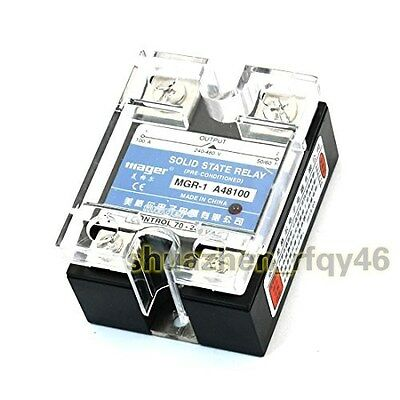 AC 240-480V 100A 1 Phase Control AC Solid State Relay MGR-1 A48100