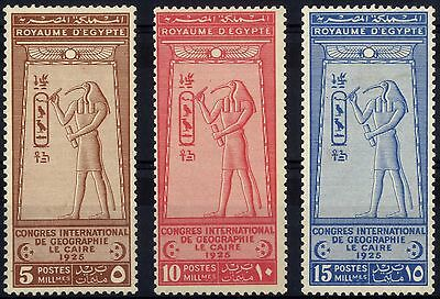 Egypt - SG 123-125 - 1925 - Geographical Congress Set of 3 - Mounted Mint